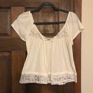 White/cream AMERICAN RAG blouse from MACYS